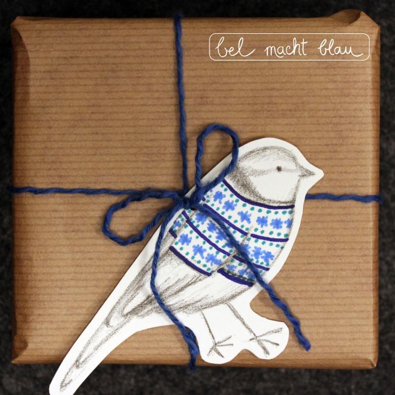 Geschenkanhänger Blaumeise