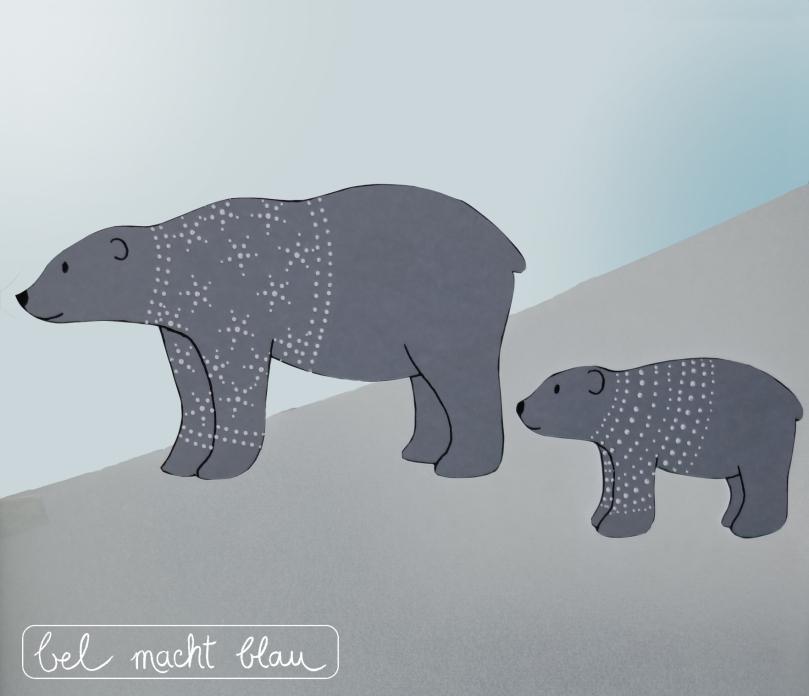 Bastelanleitung für eine Eisbärenfamilie