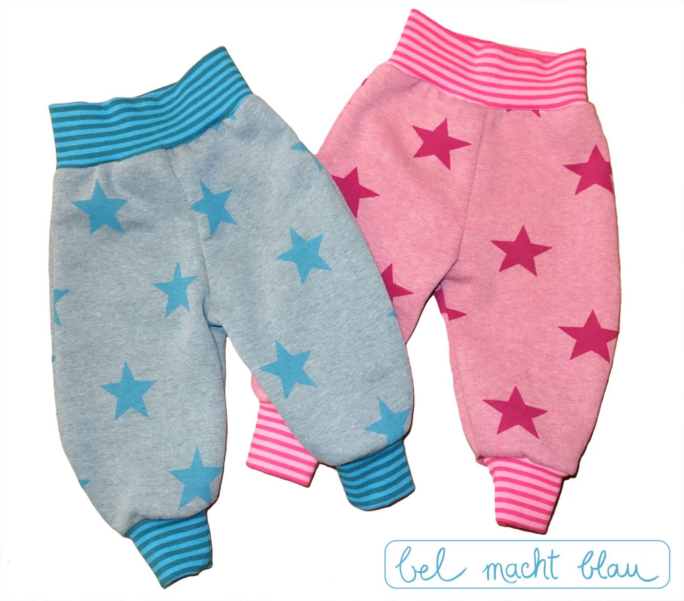 süße Zwillingshosen aus kuscheligem Sternen-Sweat, Schnitt Frida 2.0