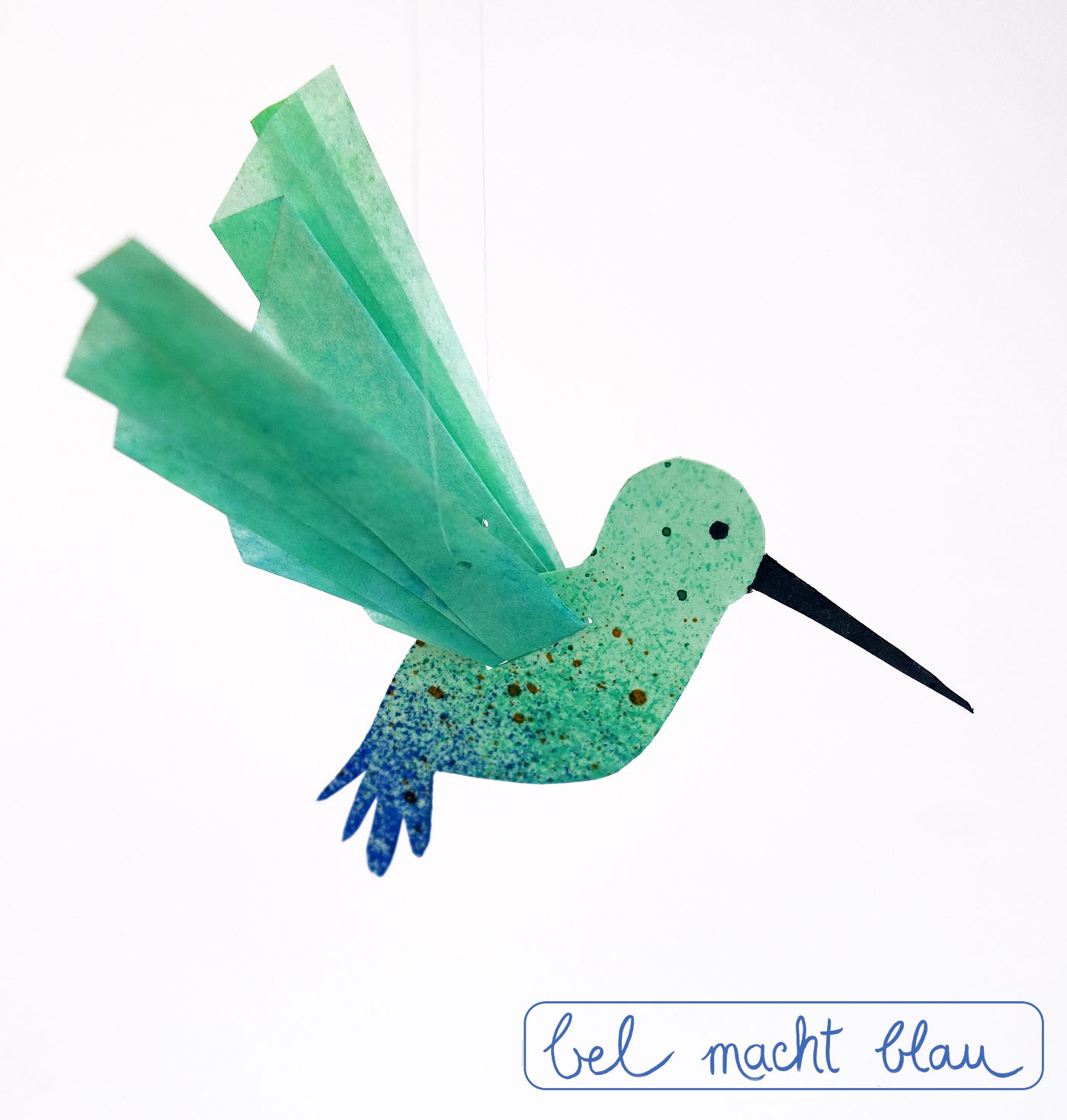 Bastelanleitung für einen süßen Kolibri