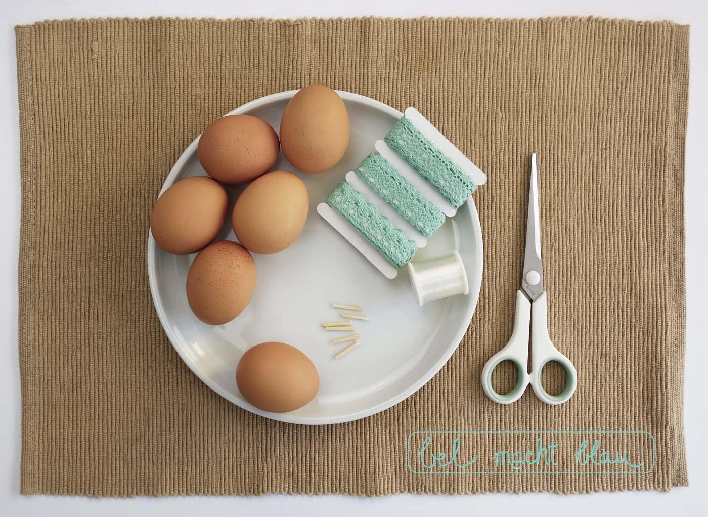 Bastelanleitung für blitzschnelle 5-Minuten-Eier-Deko