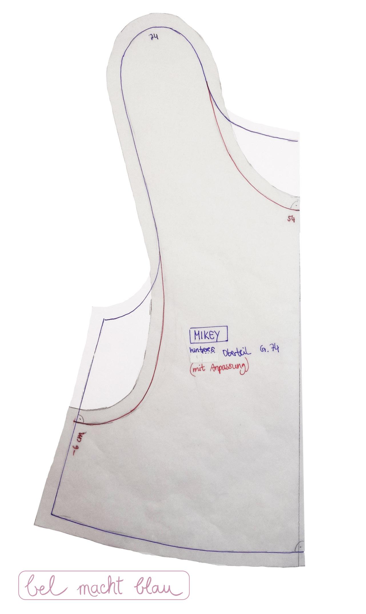 Schnittmuster MIKEY mit weiteren Arm- und Halsausschnitten