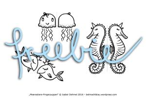 Freebie: Fingerpuppen-Meerestiere zum Ausdrucken