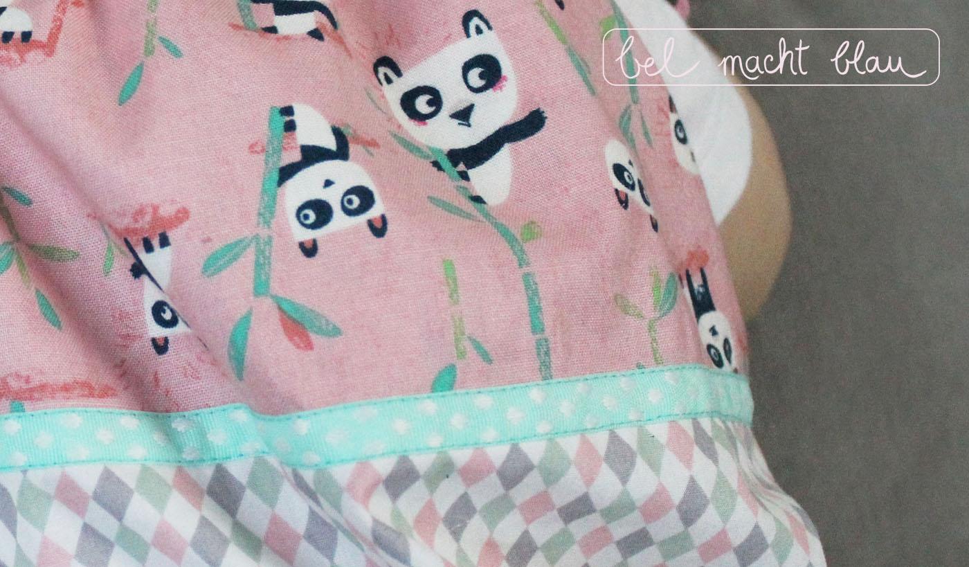 Pandastoff mit Nahtband