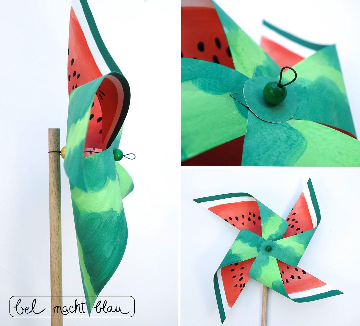 Bastelanleitung für ein Melonen-Windrad