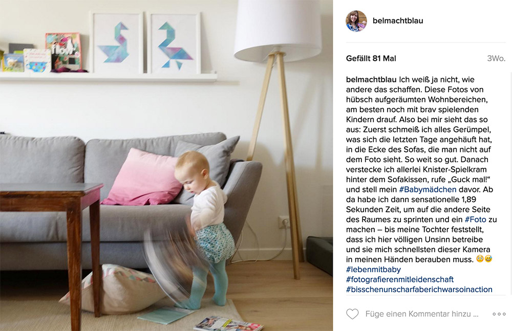 bel macht blau auf Instagram