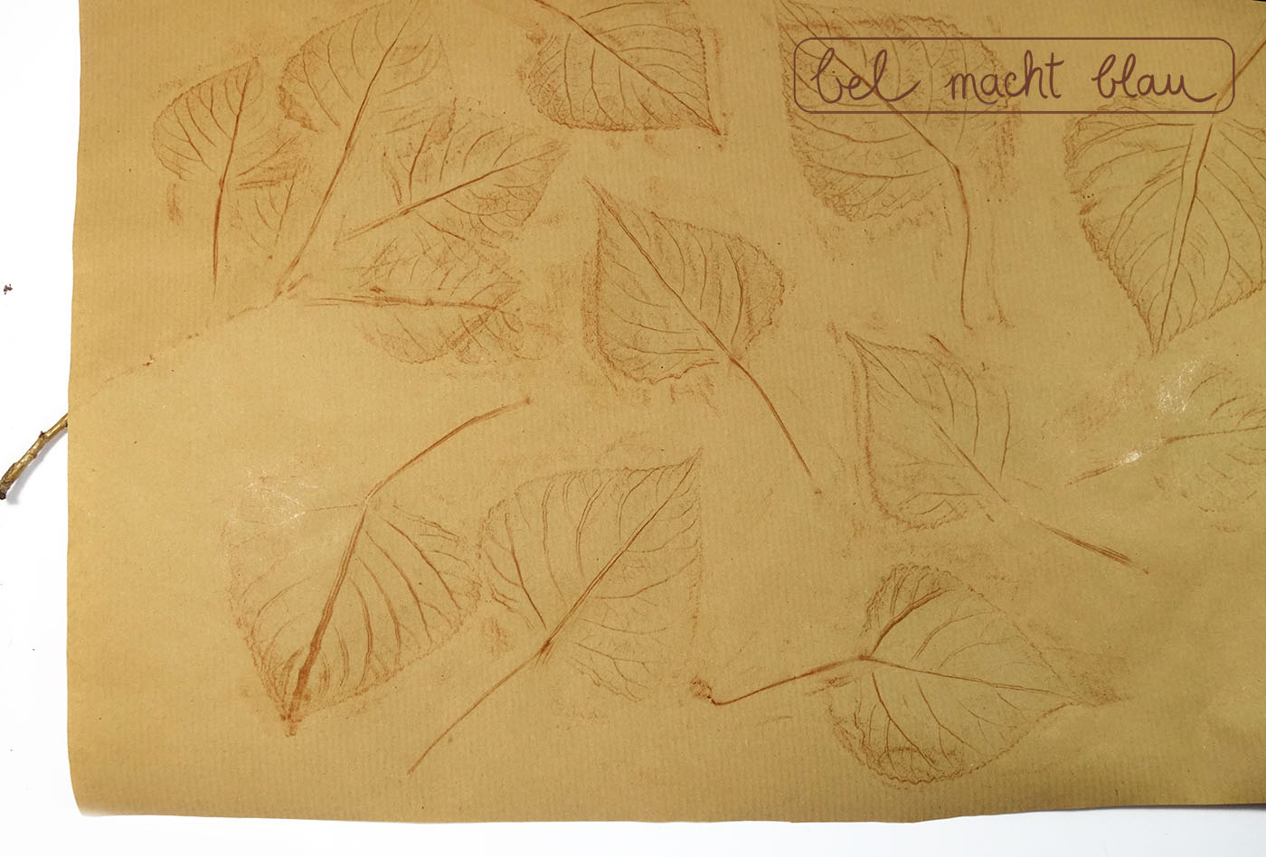 Herbstliches Geschenkpapier selbermachen