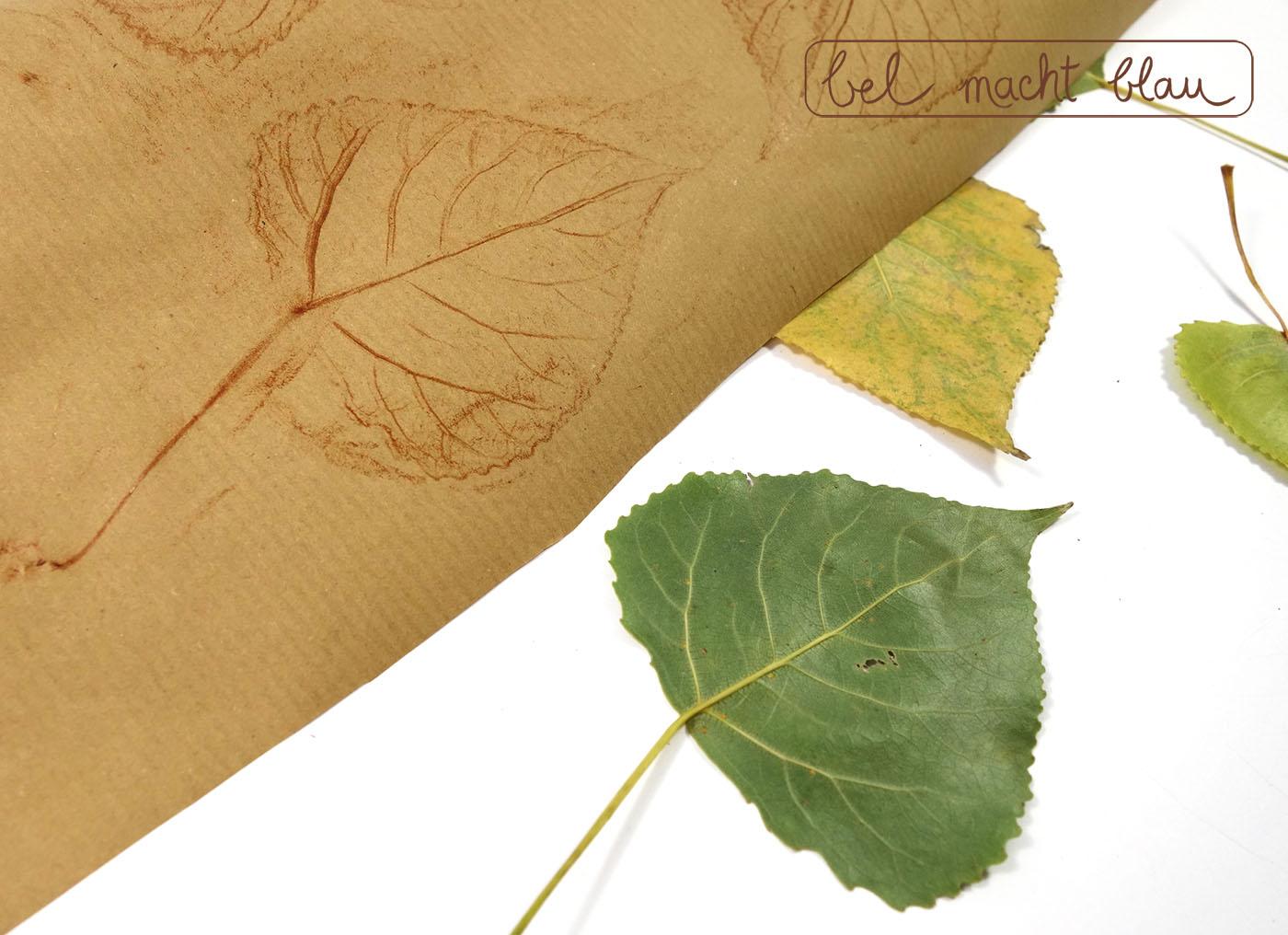 Blätter-Frottage