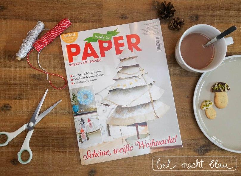 bel macht blau - zwei weihnachtliche Link-Tipps in der neuen Made in Paper